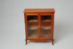 73b. Leaded Glass Cabinet